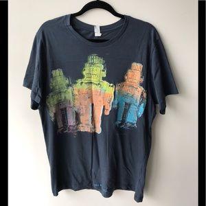 Alternative Apparel Shirts - NWOT FINAL PRICE! GLOW in Dark Robot T Shirt 🔥
